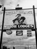 Motor Lodge Running Alongside Highway 30 Premium Photographic Print by Allan Grant