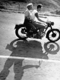 Riders Enjoying Motorcycle Riding Double Premium Photographic Print by Loomis Dean