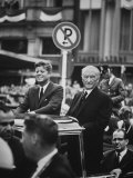 Konrad Adenauer with President John F. Kennedy Premium Photographic Print by John Dominis