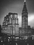 Photo Showing the Exterior of New Metropolitan Building at Night Premium Photographic Print