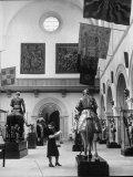 The Hall of Armor at the Metropolitan Museum of Art Premium Photographic Print by Alfred Eisenstaedt
