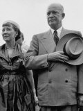 Dwight D. Eisenhower with Mamie Premium Photographic Print