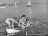 Glendale Students Boating at the Beach Photographic Print by Peter Stackpole