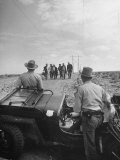 Border Patrol Waiting for Illegal Immigrants to Reach their Position Premium Photographic Print by Loomis Dean