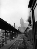 20th Century Limited Pulling into La Salle Street Depot Premium Photographic Print by Alfred Eisenstaedt