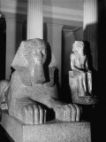 Egyptian Sculptures in the Collection of the Metropolitan Museum of Art Premium Photographic Print by Alfred Eisenstaedt