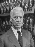 Dr. Albert Hull at General Electric Research Lab, Developed Radio Tubes to Jam Nazi Broadcasts Premium Photographic Print by Alfred Eisenstaedt