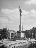 The Red Army Monument Standing in the Vienna Park Premium Photographic Print by Dmitri Kessel