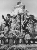 Dancers Do Matterhorn Act in Front of Artificial Slope at Disneyland Photographic Print by Ralph Crane