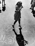 Girls Playing Hopscotch Premium Photographic Print by Ralph Morse