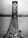 Traffic on the San Francisco Oakland Bay Bridge Premium Photographic Print by Carl Mydans
