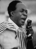 Premier of Ghana Kwame Nikrumah Making a Speech Premium Photographic Print