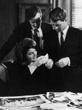 Ivan Chermayeff, Robert and Mrs. John Kennedy Looking over Photos Premium Photographic Print
