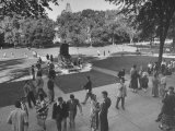 Students on Campus of Cornell University Premium Photographic Print by Alfred Eisenstaedt