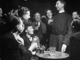 Priest Drinking in a Pub During a Revival of the Church of England Photographic Print