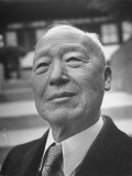 Dr. Syngman Rhee During Campaign for President Premium Photographic Print by Carl Mydans