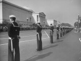 Sailors Lining Constitution Avenue for Funeral of Franklin D. Roosevelt Photographic Print by Alfred Eisenstaedt