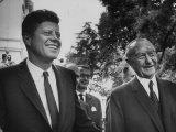 German Konrad Adenauer, with Guest President John F. Kennedy Premium fotografisk trykk av John Dominis