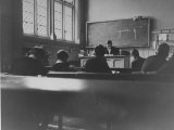 At Eton College, Students Attending a French Lesson Premium Photographic Print