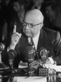 Henry J. Kaiser Testifying at the Howard Hughes Trial Premium Photographic Print