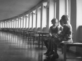 Children Sitting in Waiting Room of Children's Castle of Coffee Hospital Photographic Print