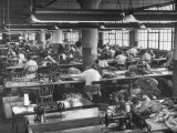 Men and Women Working in Clothing Factory Premium Photographic Print by Ralph Morse