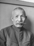 Japanese War Criminal Gen. Sadao Araki at His Arraignment Premium Photographic Print by Alfred Eisenstaedt