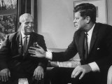 Soviet Premier Nikita S. Krushchev Meeting with Us Pres. John F. Kennedy Photographic Print