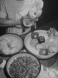 Kitchen Staff at the Waldorf Astoria Hotel Preparing Ingrediants for Waldorf Salads Premium Photographic Print by Alfred Eisenstaedt