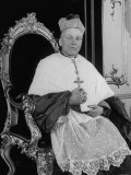 Archbishop Josef Beran Wearing Ceremonial Robes in Throne Room of the Archbishop's Palace Premium Photographic Print by Alfred Eisenstaedt