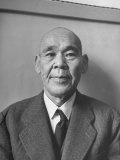 Japanese War Criminal Adm. Osami Nagano at His Arraignment Premium Photographic Print by Alfred Eisenstaedt