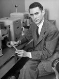 Mathematician and Computer Scientist Claude Shannon Premium Photographic Print by Alfred Eisenstaedt