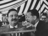 Toots Shor and Jackie Gleason at Ground Breaking Ceremony for His New Restaraunt Premium Photographic Print
