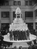 Party Celebrating the First Century of the Marshall Field Department Store's 100th Birthday Premium Photographic Print by Ralph Crane