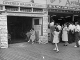 Fortune Teller Booth Next to a Penny Arcade on the Boardwalk in the Resort and Convention City Photographic Print by Alfred Eisenstaedt