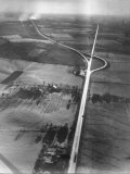 Aerial View Showing the Pennsylvania Turnpike Premium Photographic Print