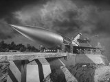 "Rocket Ship Being Built for the Movie ""When Worlds Collide"" Premium Photographic Print by Allan Grant"