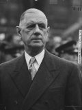 President of France, General Charles De Gaulle Premium Photographic Print