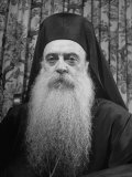 Archbishop Athenagoras of Greek Orthodox Church, Wearing Clerical Robe Premium Photographic Print