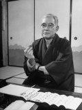 Portrait of Former Ambassador to Us, Admiral Kichisaburo Nomura Premium Photographic Print by Alfred Eisenstaedt