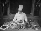 Truffle Dishes are Displayed by Paris Chef Charles Delrome, a Truffle Specialist Premium Photographic Print