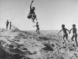 Bushman Children Playing Games on Sand Dunes Premium Photographic Print