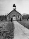 Exterior of Rural Baptist Church Premium Photographic Print by Ed Clark