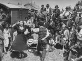 French Gypsies Playing Music and Dancing Photographic Print by Yale Joel