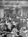 Students Studying in Reading Room of Howard University Library Premium Photographic Print by Alfred Eisenstaedt