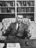 Justice William J. Brennan in Arm Chair at Home Premium Photographic Print by Alfred Eisenstaedt
