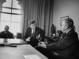 Pres. John F. Kennedy and John Diefenbaker Premium Photographic Print