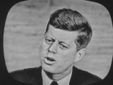 Presidential Candidate John F. Kennedy Speaking During a Televised Debate Premium Photographic Print