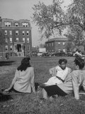 Howard University Campus and Students Premium Photographic Print by Alfred Eisenstaedt