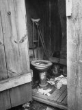 Toilet in Outhouse in Slum Area a Few Blocks from the Capital in Washington, Dc Premium Photographic Print by Carl Mydans